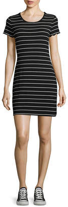 Arizona Short Sleeve Bodycon Dress-Juniors