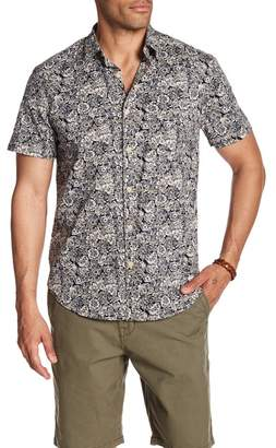 Lucky Brand Ballona Floral Short Sleeve Regular Fit Shirt