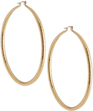 Kenneth Jay Lane Large Hoop Earrings