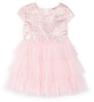Little Lass Cap Sleeve Tiered Skirt Special Occasion Holiday Dress (Baby Girls & Toddler Girls)