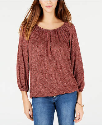 Michael Kors Printed 3/4-Sleeve Peasant Top, In Regular & Petite Sizes