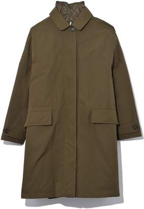 Aspesi Technical Cotton Coat in Military