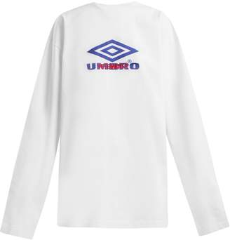 Vetements X Umbro long-sleeved cotton T-shirt