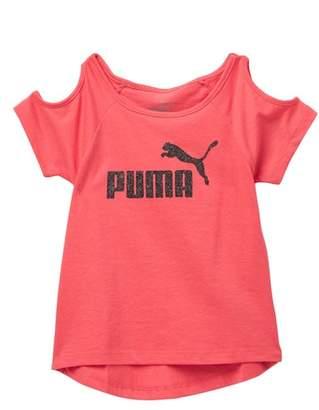 Puma Cold Shoulder Tee (Little Girls)