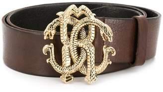 Roberto Cavalli snake logo belt