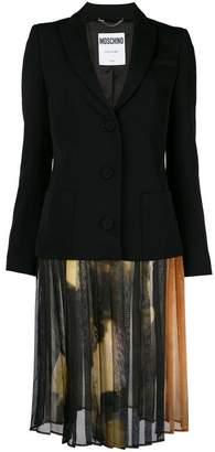 Moschino chiffon-panelled blazer