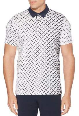 Perry Ellis Printed Polo Shirt