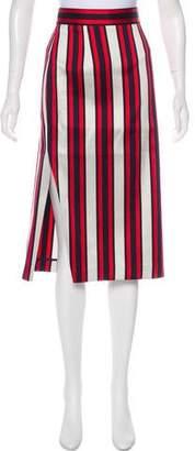 Smythe Striped Midi Skirt