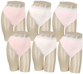 Breezies S/6 Cotton High-Cut Brief Panties w/UltimAir