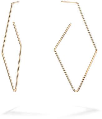 Lana 14k Gold Diamond-Shaped Hoop Earrings