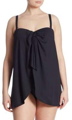 Lauren Ralph Lauren Plus One-Piece Flyaway Swimsuit