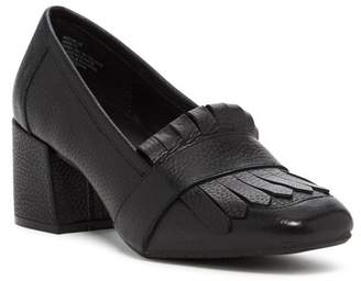 Kenneth Cole Reaction Michelle Leather Block Heel Loafer