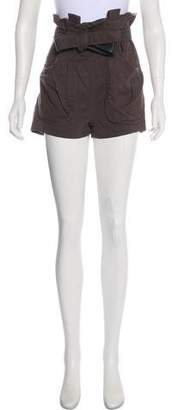 Acne Studios Belted Mini Shorts