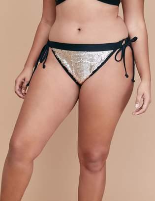 Lane Bryant Sequin Swim String Bikini Bottom