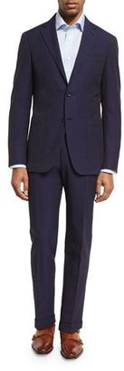 Canali Seersucker Cotton Two-Piece Suit, Navy $1,695 thestylecure.com