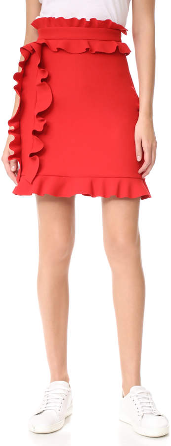 MSGM Side Ruffle Skirt