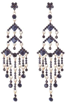 Natasha Accessories Arrow Chandelier Crystal Earrings