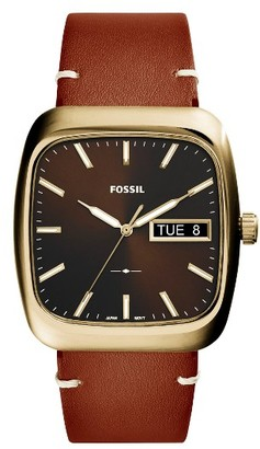 Fossil Rutherford Leather Strap Watch, 41Mm $135 thestylecure.com