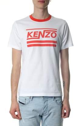 Kenzo White Cotton T-shirt With Logo Print