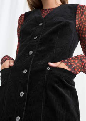 Corduroy Workwear Mini Dress