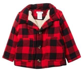 Joe Fresh Faux Shearling Lined Flannel Jacket (Baby Boys)