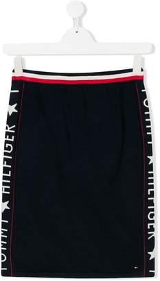 Tommy Hilfiger Junior TEEN logo trim skirt