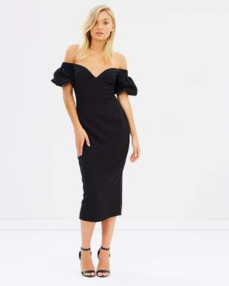 Atmos & Here Natasha Off-Shoulder Pencil Dress