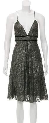 Diane von Furstenberg Metallic Lace Dress
