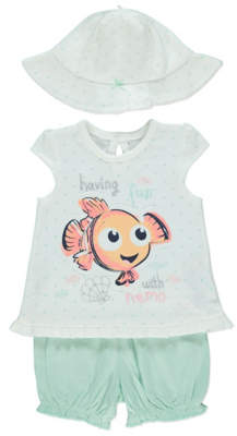 210d49eda6 Disney George Finding Nemo Top Shorts and Hat Outfit