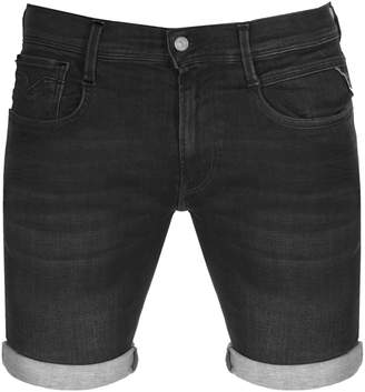 Replay Anbass Denim Shorts Black