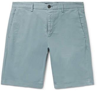 Theory Zaine Slim-Fit Garment-Dyed Stretch-Cotton Twill Shorts
