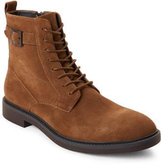 Calvin Klein Dark Tan Justin Suede Boots