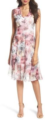 Petite Women's Komarov Chiffon A-Line Dress $308 thestylecure.com