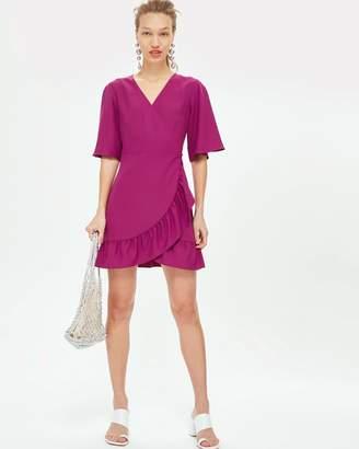 Topshop Frill Ruffle Mini Dress