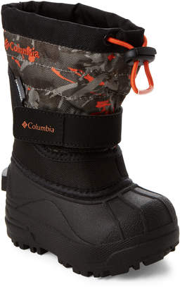Columbia Toddler Boys) Black & Heatwave Powderbug Plus II Snow Boots