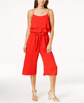One Clothing Juniors' Ruffled Popover Jumpsuit