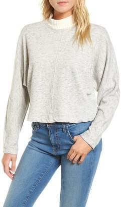 Splendid Sidelight Crop Mock Neck Pullover