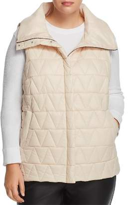 Eileen Fisher Plus High Collar Puffer Vest