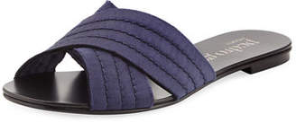 Pedro Garcia Elisa Flat Satin Slide Sandal