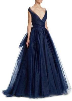 Zac Posen Convertible Tulle Ball Gown