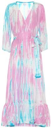 Anna Kosturova Exclusive to Mytheresa Tie-dye silk midi dress
