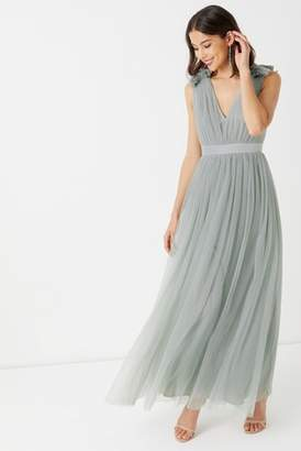Next Womens Maya Plain Tulle Gathered Maxi Dress