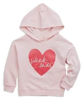 Sovereign Code Girls' Gemma Glitter-Heart Weekends Hoodie - Little Kid