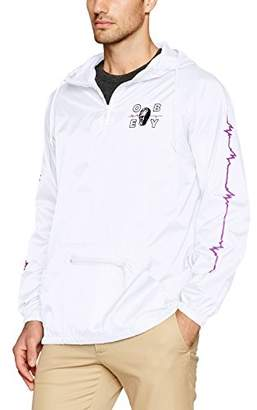 Obey Men's Wave Lengths Anorak Pullover Hood