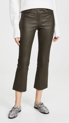 Theory Crop Leather Pants