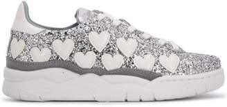 Chiara Ferragni glitter lace up sneakers
