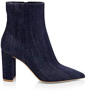 Gianvito Rossi Women's Piper Denim Ankle Boots