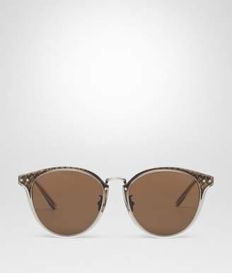 Bottega Veneta Bronze Metal Sunglasses