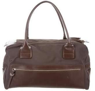 Hogan Leather-Trimmed Shoulder Bag