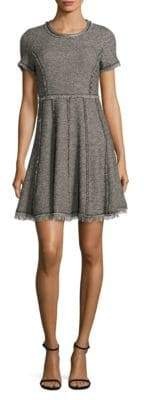 Rebecca Taylor Fit-&-Flare Tweed Dress